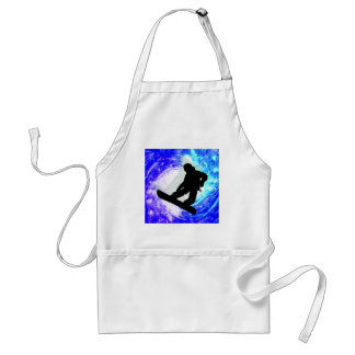 Snowboarder in Whiteout Adult Apron