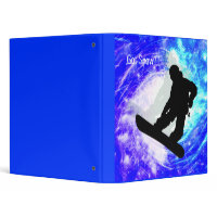 Snowboarder in Whiteout binder