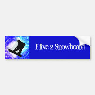 Snowboarder in Whiteout Bumper Stickers