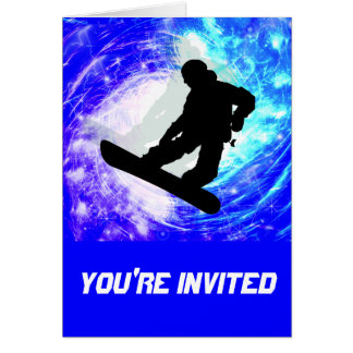 Snowboarder in Whiteout Cards