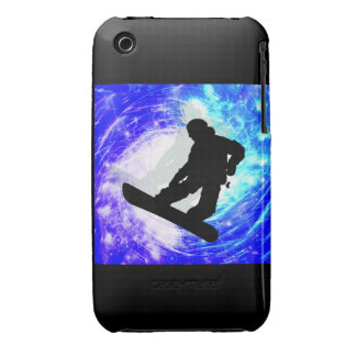 Snowboarder in Whiteout Case-Mate iPhone 3 Case