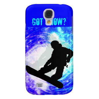 Snowboarder in Whiteout Galaxy S4 Case