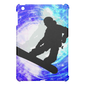 Snowboarder in Whiteout iPad Mini Case