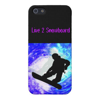 Snowboarder in Whiteout iPhone 5/5S Covers