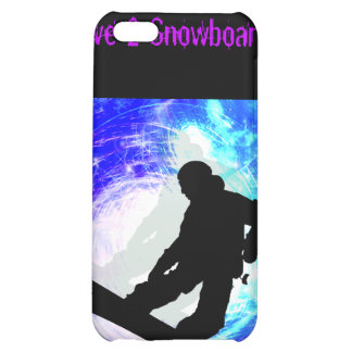 Snowboarder in Whiteout iPhone 5C Cover