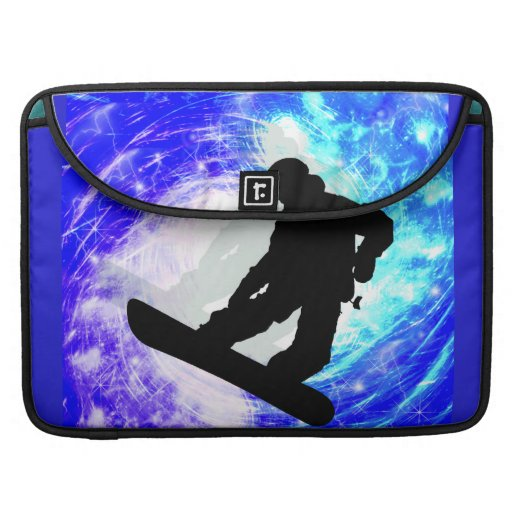 Snowboarder in Whiteout MacBook Pro Sleeve