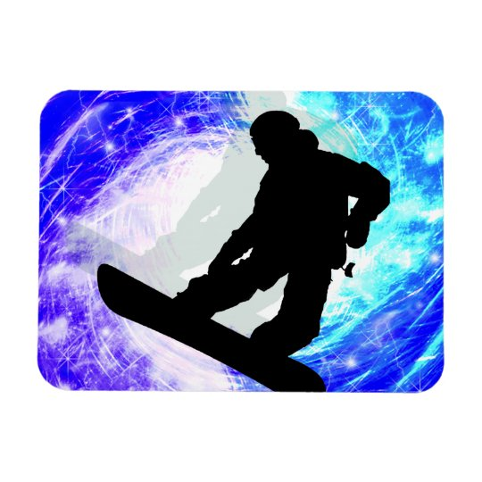 Snowboarder in Whiteout Magnet