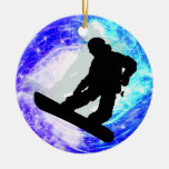 Snowboarder in Whiteout Ornaments