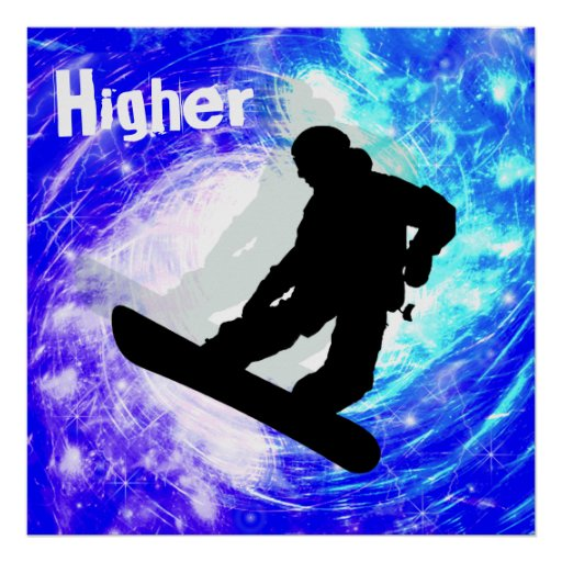 Snowboarder in Whiteout Posters