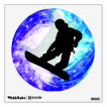 Snowboarder in Whiteout Wall Skins