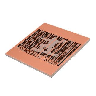 SNOWBOARDER INSIDE Barcode Tile