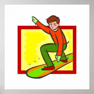 Snowboarder joven impresiones