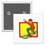 Snowboarder joven pin