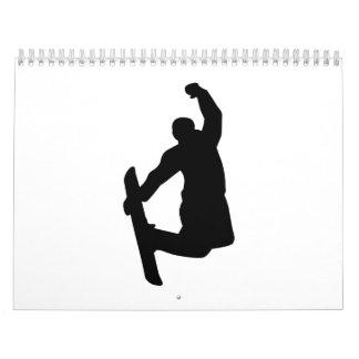 Snowboarder jump wall calendars