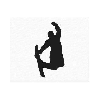 Snowboarder jump canvas print