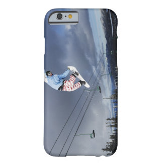 Snowboarder jumping in mid-air doing a backside barely there iPhone 6 case
