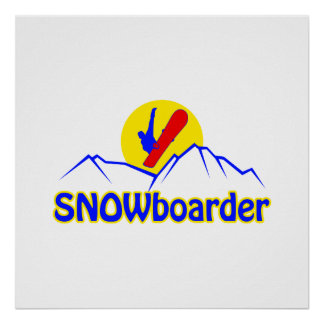SNOWboarder logo Poster