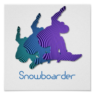 Snowboarder Logo Print