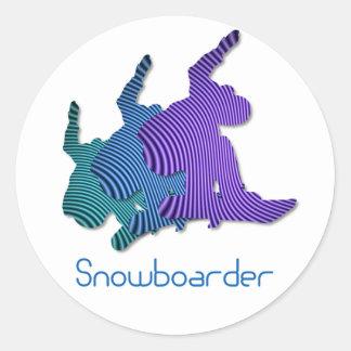 Snowboarder Logo Stickers