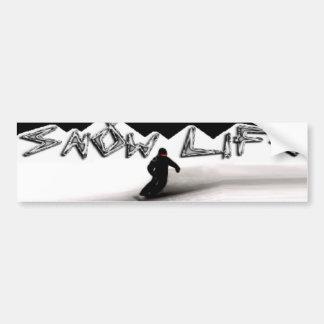 Snowboarder loving the Snow Life Car Bumper Sticker