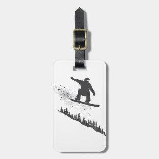 Snowboarder Luggage Tag
