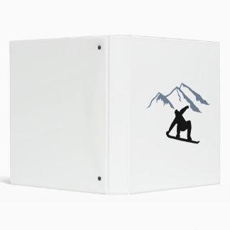 Snowboarder mountains 3 ring binder