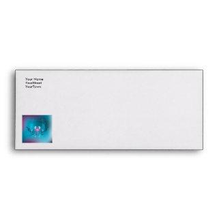Snowboarder on blue background envelope