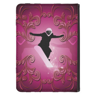 Snowboarder on purple background kindle cover