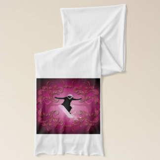 Snowboarder on purple background scarf