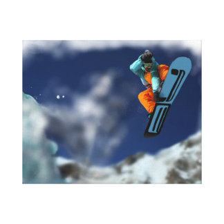 Snowboarder on the Pass Canvas Wrap