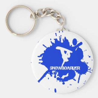 Snowboarder Paint Splatter Keychain