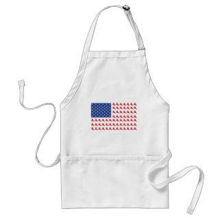 Snowboarder-Patriotic-USA-Flag Adult Apron