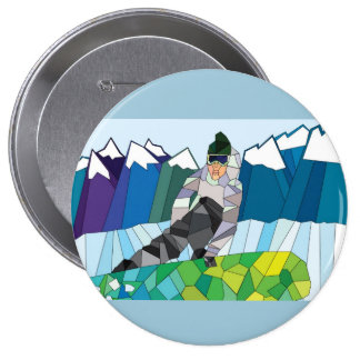 Snowboarder Pin (customize back color!)