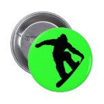 Snowboarder Pin Redondo De 2 Pulgadas