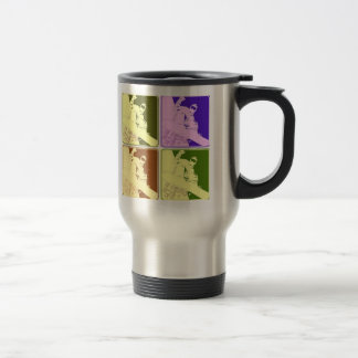 Snowboarder/Pop Art Travel Mug