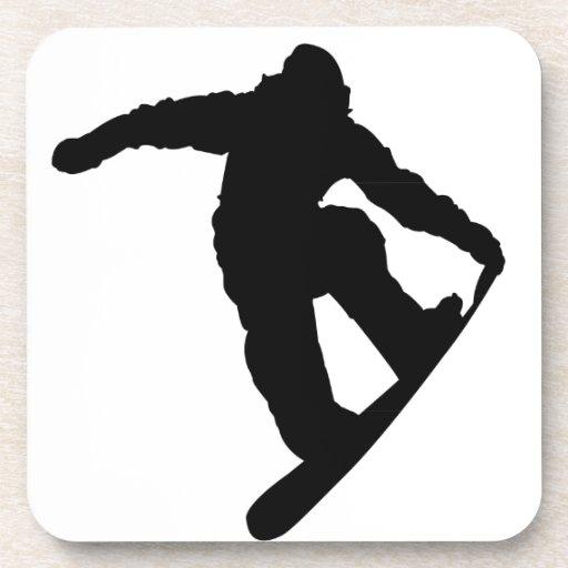 Snowboarder Posavasos De Bebidas