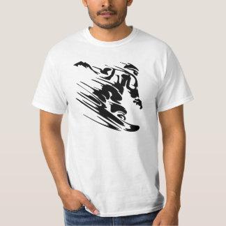 Snowboarder rápido camisas