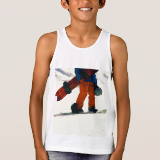 """Snowboarder """"ready to ride'"""" Winter Sports Tank Top"""