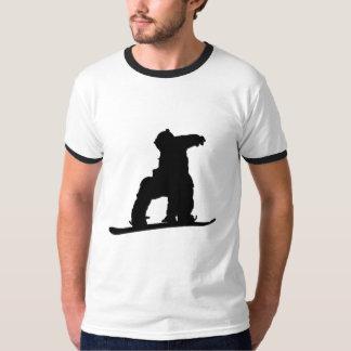 Snowboarder Ringer T T Shirt