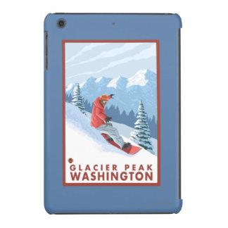 Snowboarder Scene - Glacier Peak, Washington iPad Mini Retina Cases