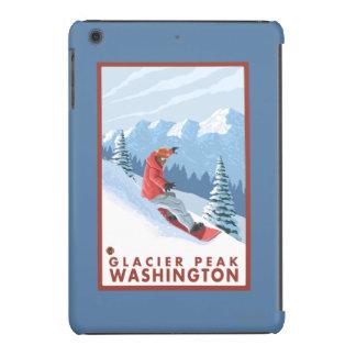 Snowboarder Scene - Glacier Peak, Washington iPad Mini Retina Cover
