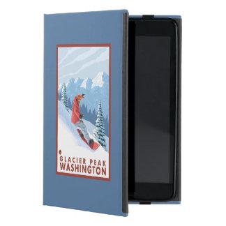 Snowboarder Scene - Glacier Peak, Washington Covers For iPad Mini