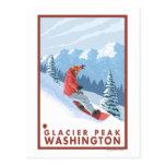 Snowboarder Scene - Glacier Peak, Washington Post Card