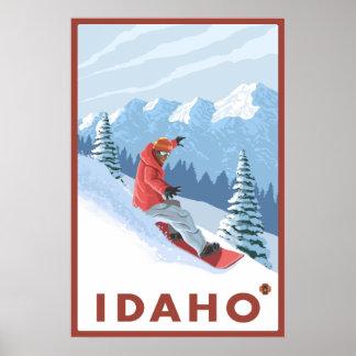 Snowboarder Scene - Idaho Poster