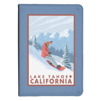 Snowboarder Scene - Lake Tahoe, California Kindle Touch Case