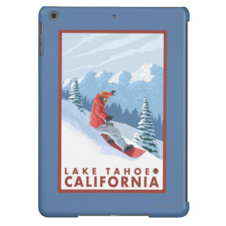 Snowboarder Scene - Lake Tahoe, California Cover For iPad Air