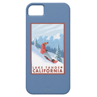 Snowboarder Scene - Lake Tahoe, California iPhone 5 Cases
