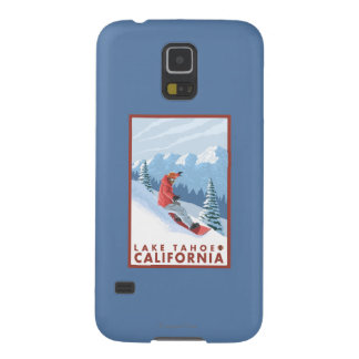Snowboarder Scene - Lake Tahoe, California Galaxy S5 Covers