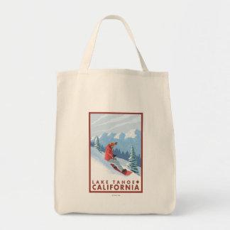 Snowboarder Scene - Lake Tahoe, California Tote Bag