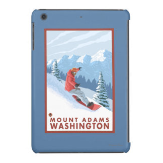 Snowboarder Scene - Mount Adams, Washington iPad Mini Cases